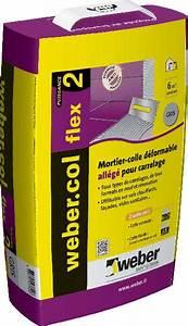 Colle Carrelage Exterieur Flex : mortier colle carrelage weber col flex 2 gris sac 15kg nf en12004 ~ Nature-et-papiers.com Idées de Décoration