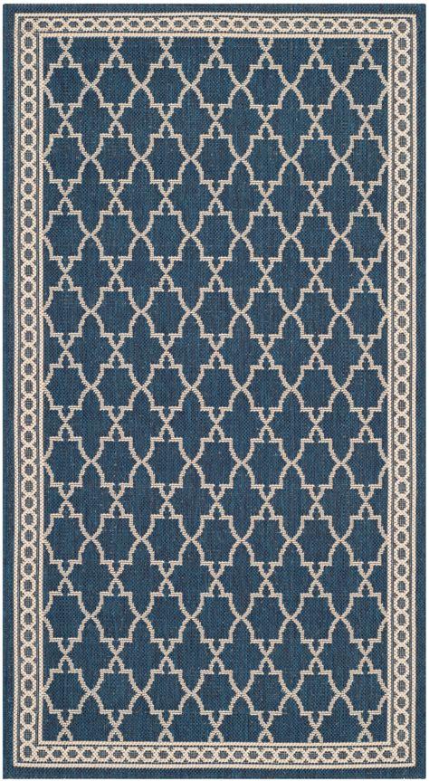 Safavieh Indoor Outdoor Rugs by Safavieh Indoor Outdoor Navy Beige Polypropylene Area Rugs