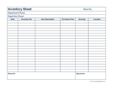 Inventory Template Business Inventory 01 Free Printable Templates