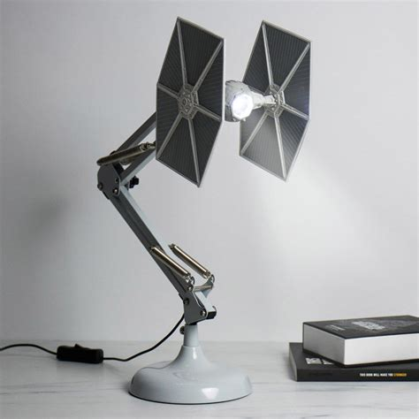 exciting sci fi lamps tie fighter desk lamp