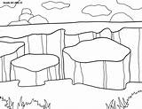 Coloring Park National Canyonlands Pages Parks Doodle 800px 1035 79kb Alley sketch template