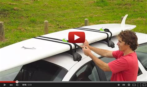 stand up paddle board car rack how to lock your standup paddleboard to the roof rack
