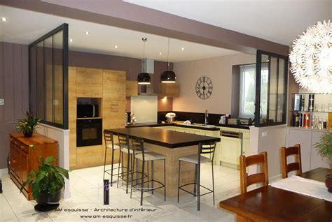 cuisine avec verriere cuisine ouverte avec verrière architecture