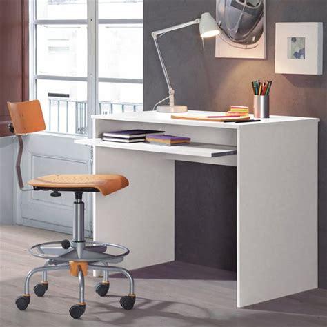 bureau longueur 90 cm i bureau multimédia classique blanc l 90cm achat