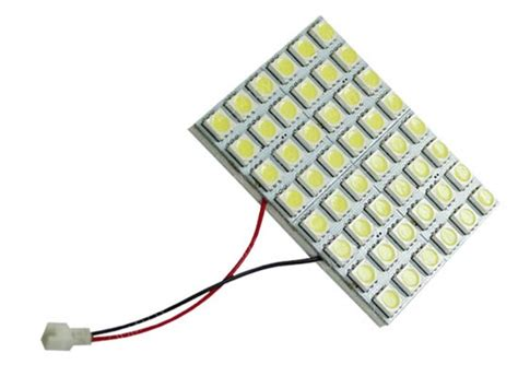 (1) White 48-smd-5050 Led Panel Lamps For Car Interior