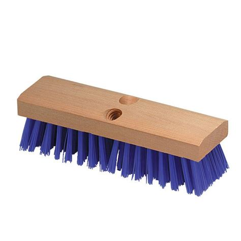 Deck Scrub Brush Home Depot by Carlisle 10 In Deck Scrub Brush With Stiff Polypropylene