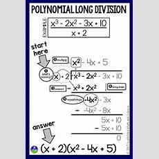 Scaffolded Math And Science Polynomial Long Division In Algebra 2