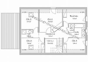 plan de maison traditionnelle gratuit plan maison plain With ordinary plan maison etage 100m2 7 plan de maison 100m2 avec sous sol