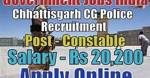 Chhattisgarh Police Recruitment 2018 for 2259 Constable ...