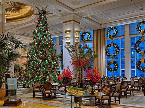 hotel christmas trees conde nast traveler