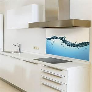 Wandverkleidung Küche Glas : spritzschutzwand aus glas motiv wasser f r ihre k che 1700 x 600 mm ebay ~ Markanthonyermac.com Haus und Dekorationen