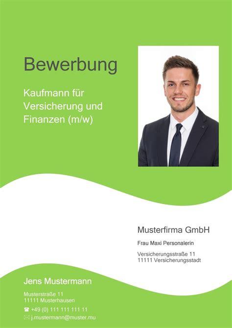 deckblatt bewerbung  bewerbungsdeckblatt kaufmann