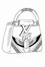 Handbag Drawings Draw Handbags Drawing Louis Vuitton Pen Bags Paintings Demanddrawing Belt Own sketch template