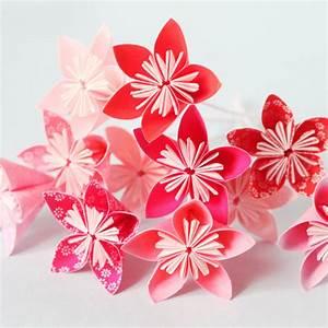 Fleur En Origami Facile : faire un bouquet de fleurs en origami ~ Farleysfitness.com Idées de Décoration