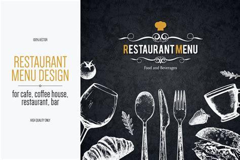 Design for life is the key words for ampersand design shop. Restaurant menu design with a sketch in 2020   Menu design ...
