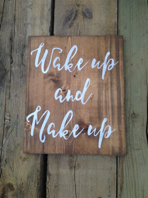 Vanity Signs by Wake Up And Make Up Bathroom Sign Vanity Sign Wood Signs