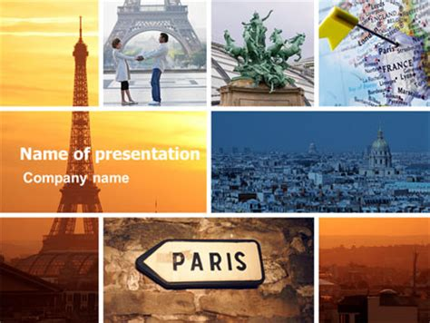 paris  collage powerpoint template backgrounds