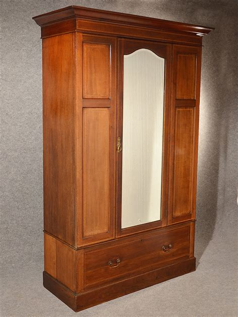Wardrobe Armoire by Antique Wardrobe Armoire Mirror Door Maple Co Antiques