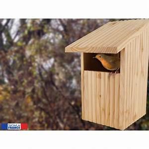 Plan Nichoir Oiseaux : nichoir ouvert le refuge en pin douglas pour rouge gorge et autres oiseaux semi cavernicoles ~ Melissatoandfro.com Idées de Décoration