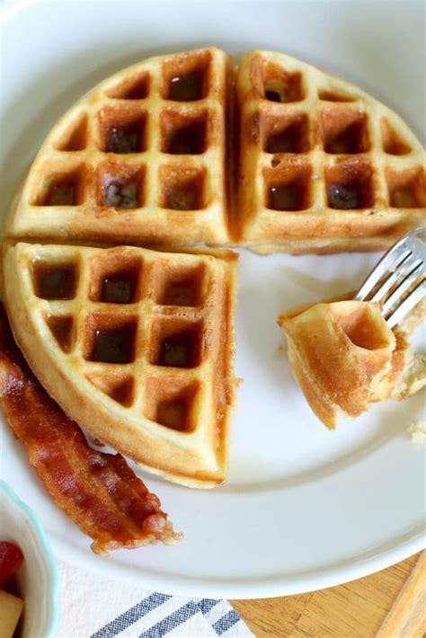 homemade waffle recipe   mamma