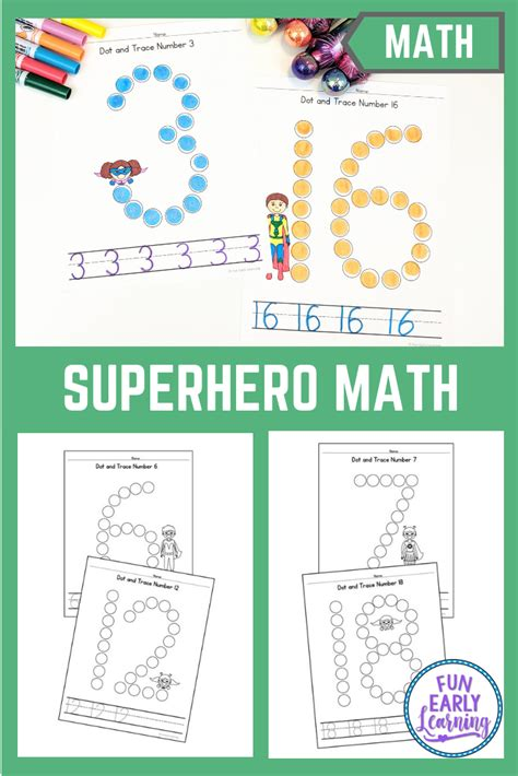 dot  trace numbers  superheroes  images fun