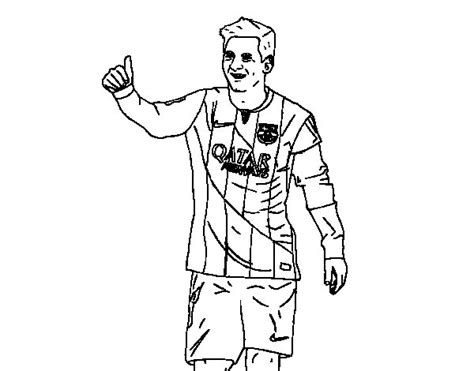 Soccer Coloring Pages Messi - Democraciaejustica
