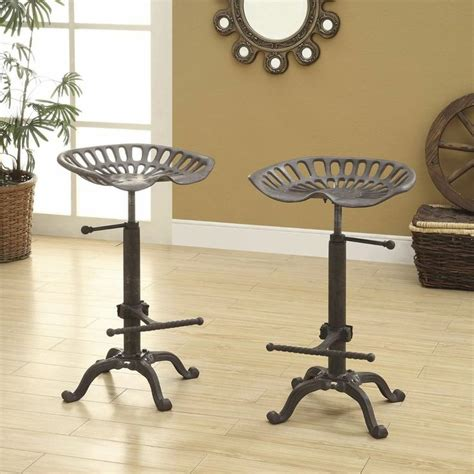 kitchen bar counter tractor seat bar stool rolling kitchen cast iron vintage