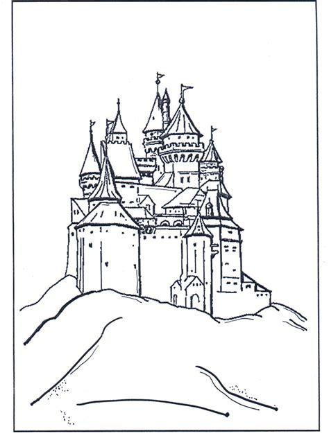 kasteel van disney kleurplaten disney