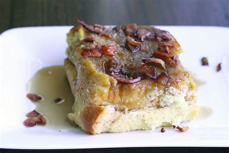 Baked French Toast With Bacon Crumble Simple Comfort Food