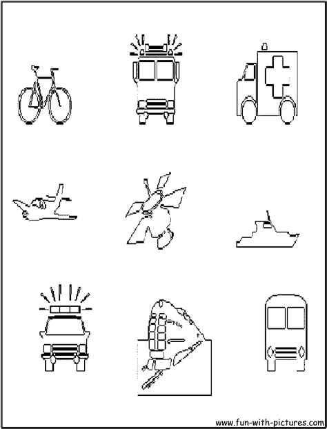 vehicles coloring page