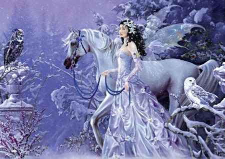 winter fairy fantasy abstract background wallpapers