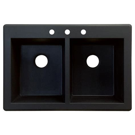 moenstone kitchen sinks transolid radius drop in granite 33 in 2 1 3 4 4264