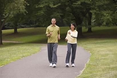 Walking Health Exercise Buddies Woman Path Along