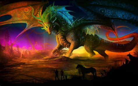 fantasy wallpapers castles sorcery dragons  maidens