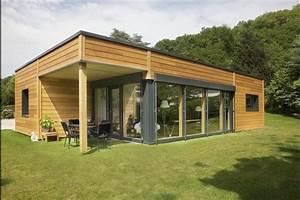 Maison Clé En Main Pas Cher : myotte duquet architecture bois plain pied 100m2 contemporain ~ Premium-room.com Idées de Décoration