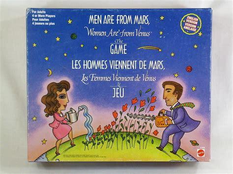 men   mars women   venus  board game