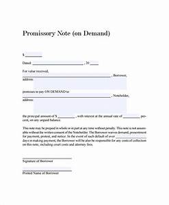 promissory note template With promissory note template canada