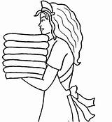 Coloring Maid Printable Hotel Drawing Crafts Stencils Cartoon Drawings Printables Line Plain Jane Maids Template Amazing sketch template