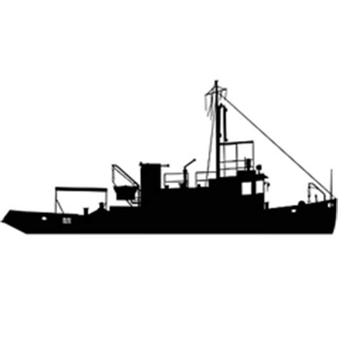 Tugboat Vector Question by Anchor Silhouettes Royalty Free Vector Image Vectorstock