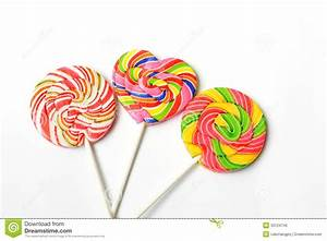 Colorful Lollipop On White Background Royalty Free Stock ...