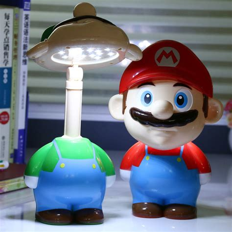 super mario cute cartoon led rechargeable table light