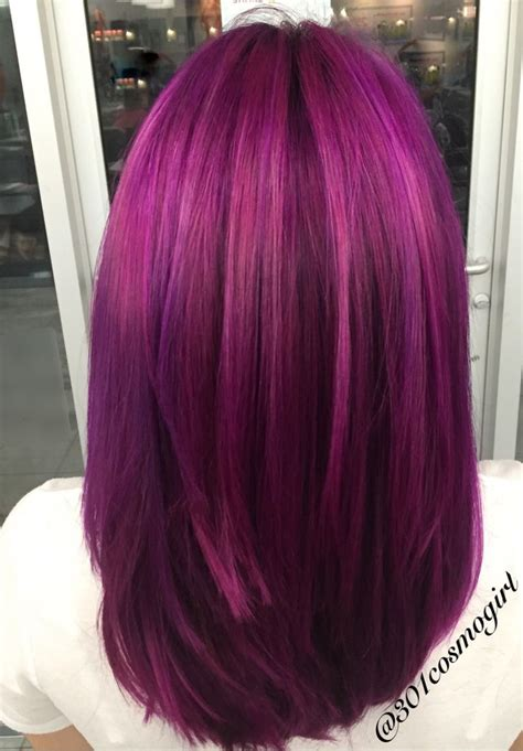 25 Best Ideas About Bright Purple Hair On Pinterest