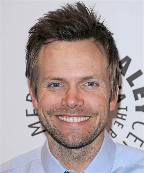 joel mchale casual short straight hairstyle ash brunette