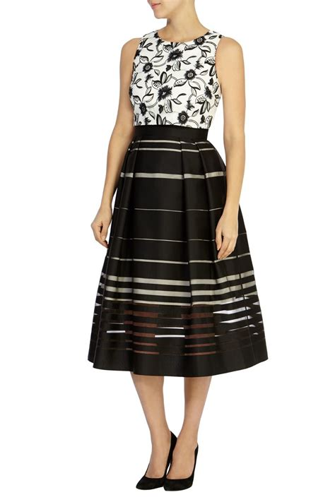 coast dorian stripe skirt dress in black other lyst