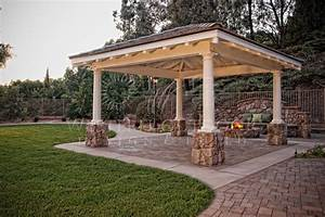 Free standing wood patio cover plans for Free standing wood patio covers