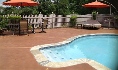 staining pool decks  patios direct colors