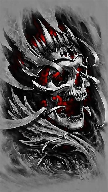 Skull Tattoo Fire Tattoos