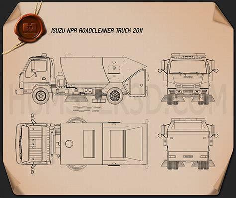 isuzu npr road cleaner  blueprint humd
