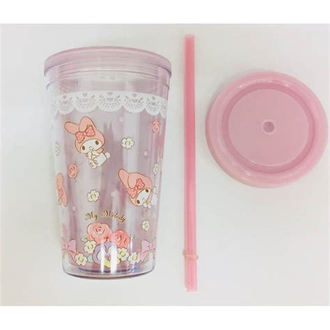 If you are a designer, you will definitely see what we mean by coffee. My Melody Plastic Cup W/Straw: - The Kitty Shop