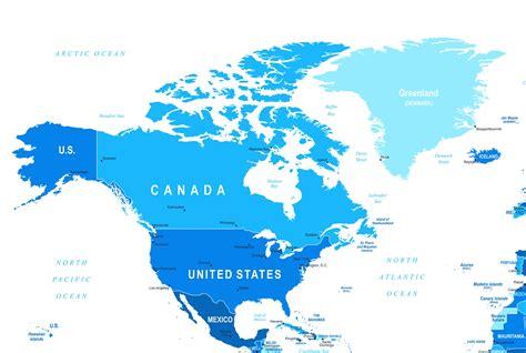 map  north america maps   usa canada  mexico